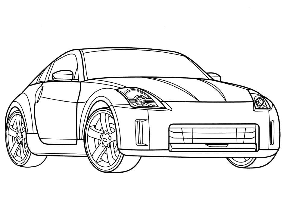 Top 30 Printable Nissan Coloring Pages