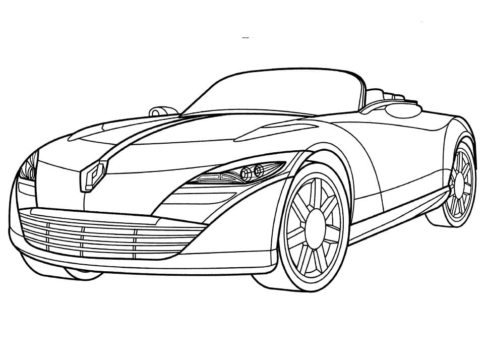 Top 25 Printable Renault Coloring Pages