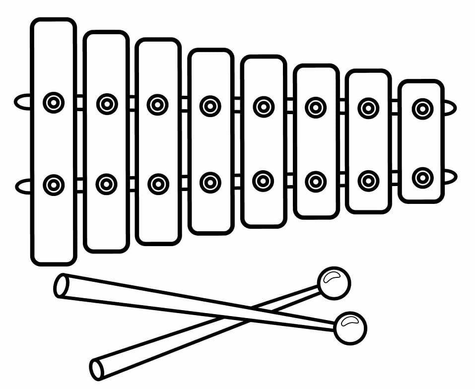 Top 20 Printable Xylophone Coloring Pages