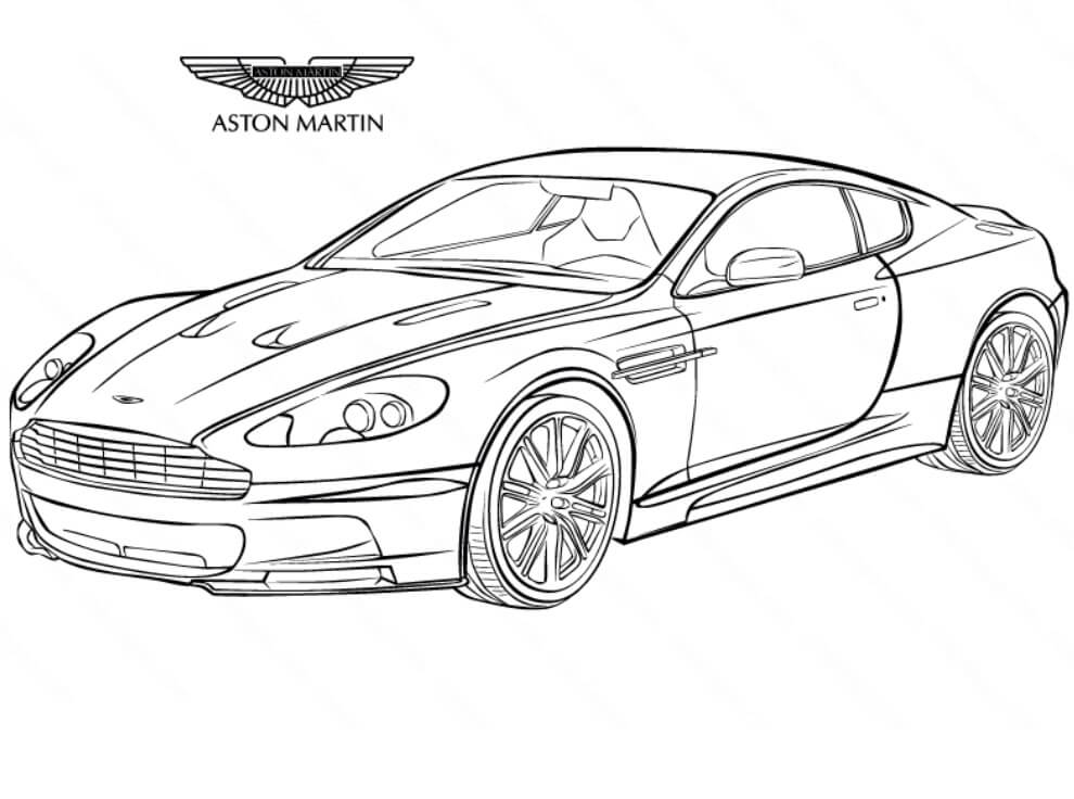 Top 20 Printable Aston Martin Coloring Pages
