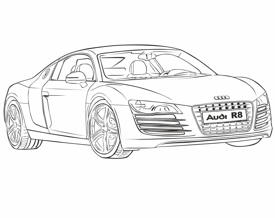 Top 30 Printable Audi Coloring Pages
