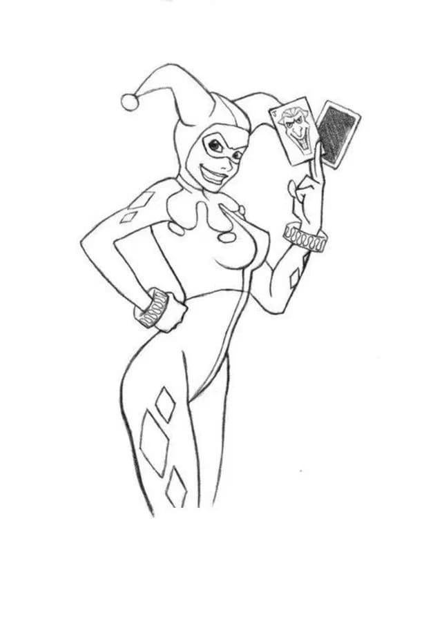 Top 30 Printable Harley Quinn Coloring Pages
