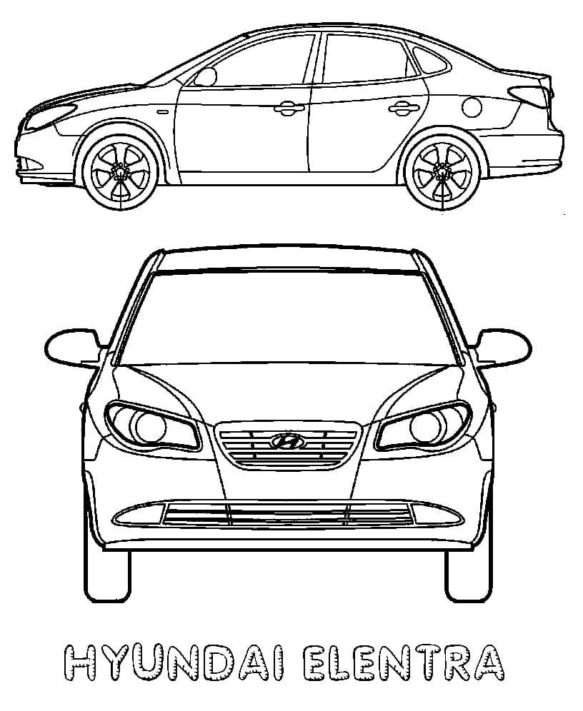 Top 30 Printable Hyundai Coloring Pages