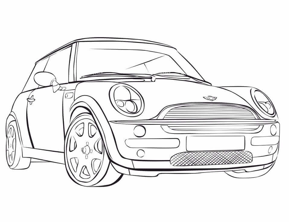 Top 20 Printable Mini Cooper Coloring Pages