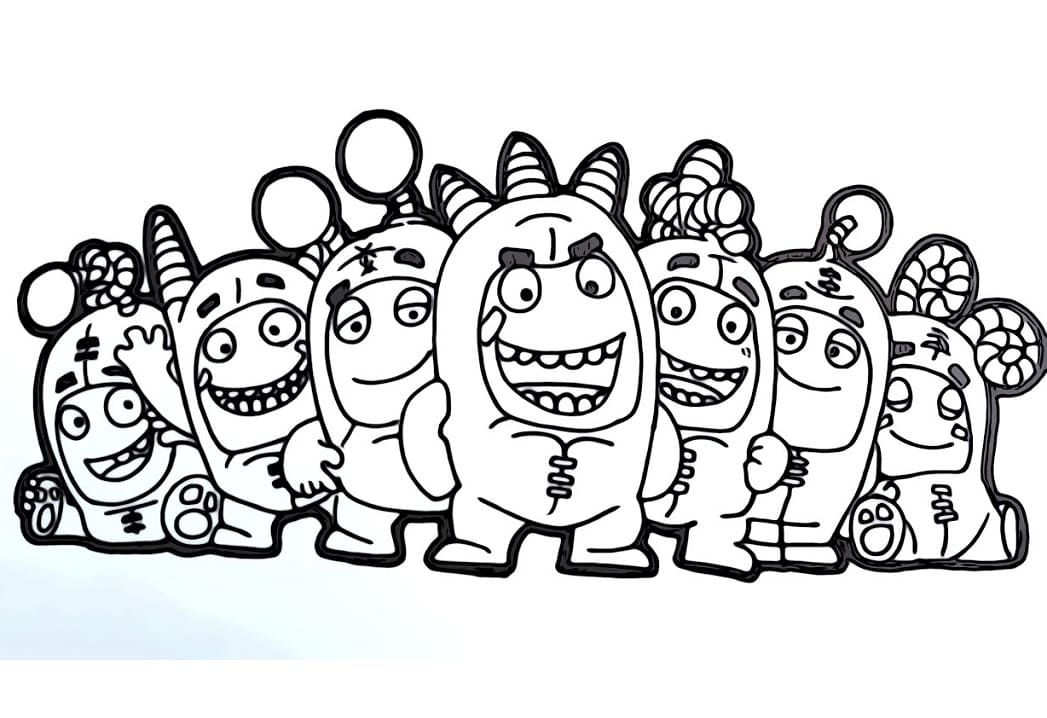 Top 22 Printable Oddbods Coloring Pages