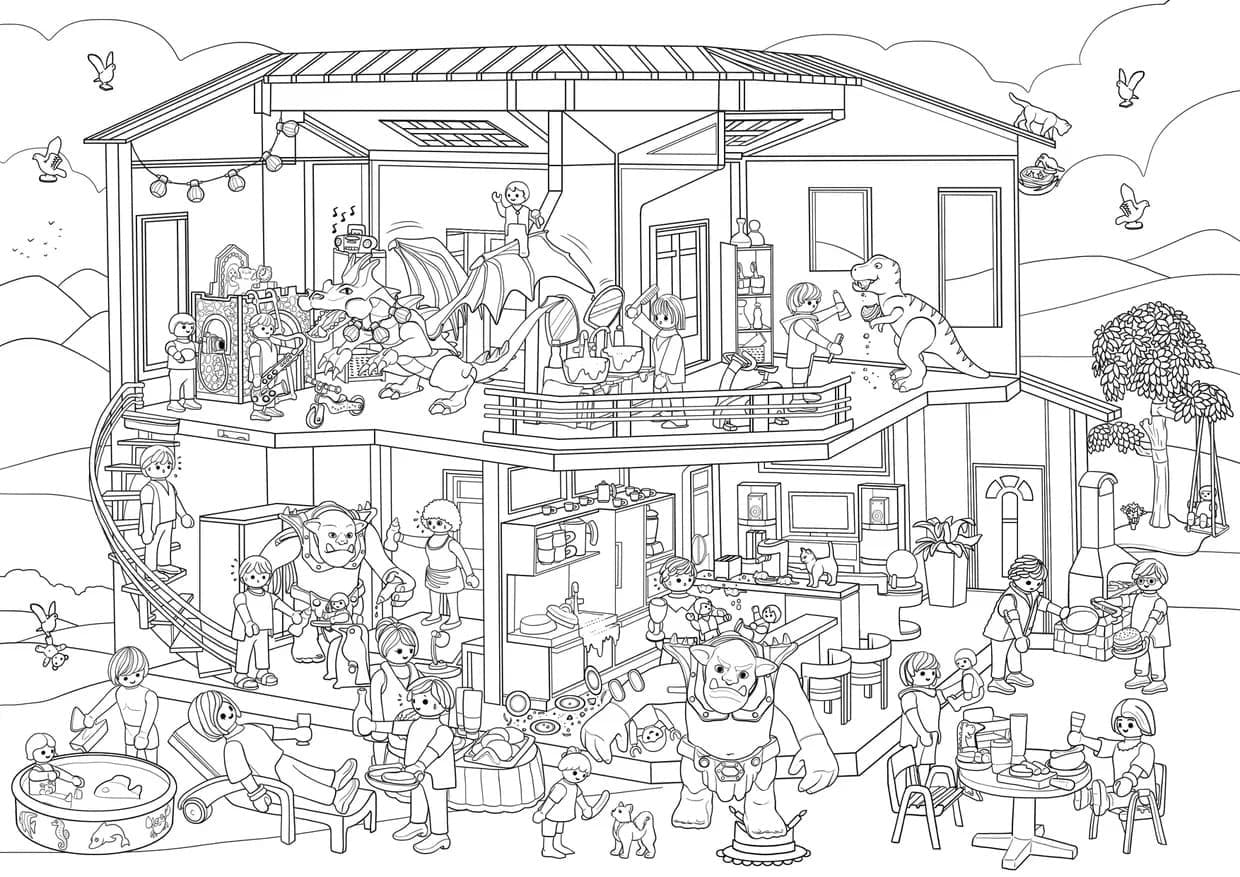 Top 30 Printable Playmobil Coloring Pages