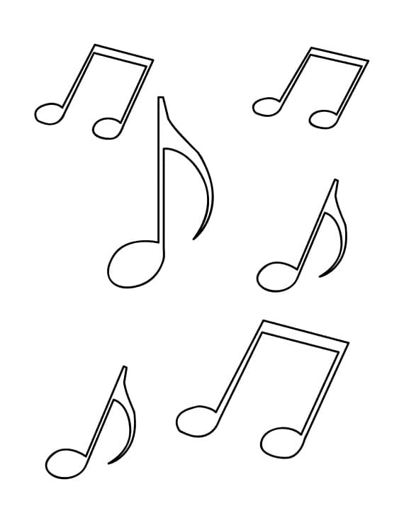 Top 16 Printable Music Notes Coloring Pages