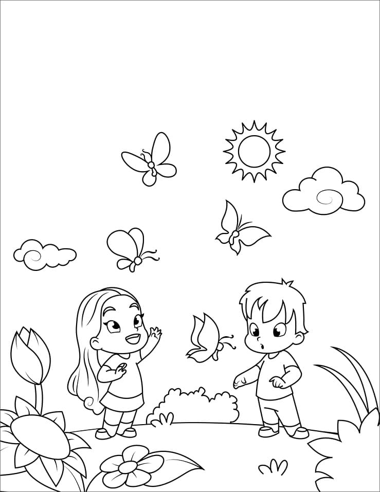 Top 30 Printable Spring Coloring Pages