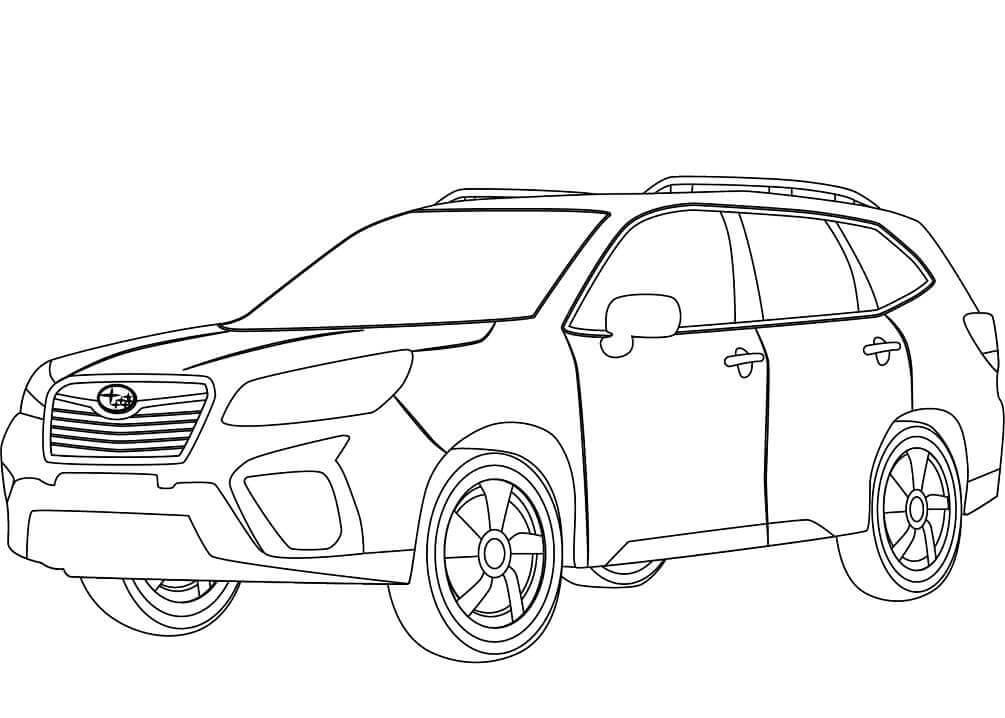 Top Printable Subaru Coloring Pages