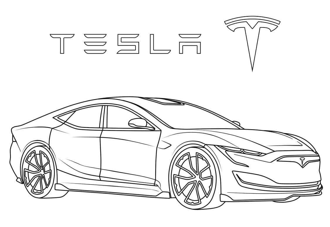 Top 20 Printable Tesla Coloring Pages
