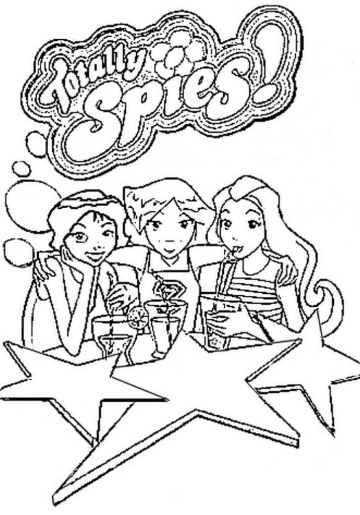 Top 30 Printable Totally Spies Coloring Pages