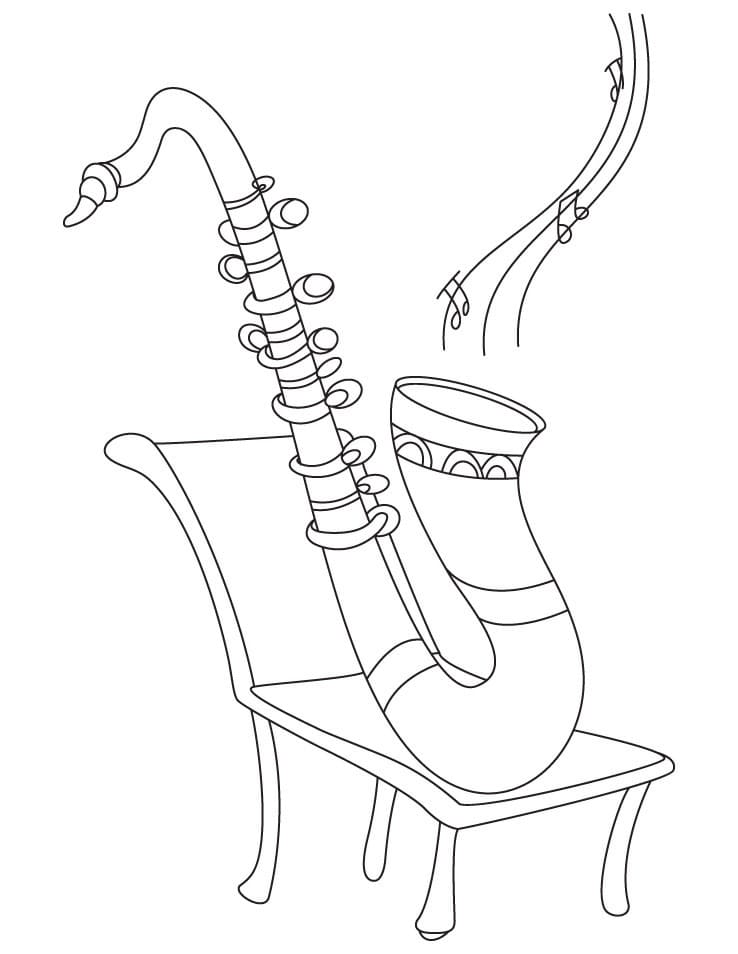 Top 20 Printable Saxophone Coloring Pages