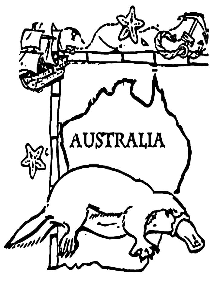 Top 26 Printable Australia Coloring Pages