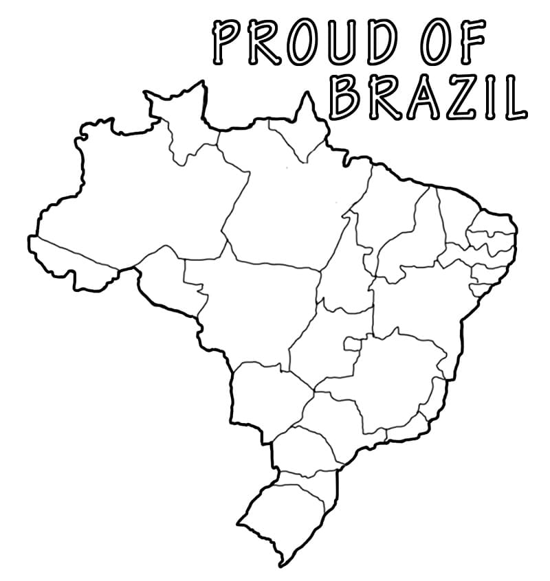 Top 25 Printable Brazil Coloring Pages