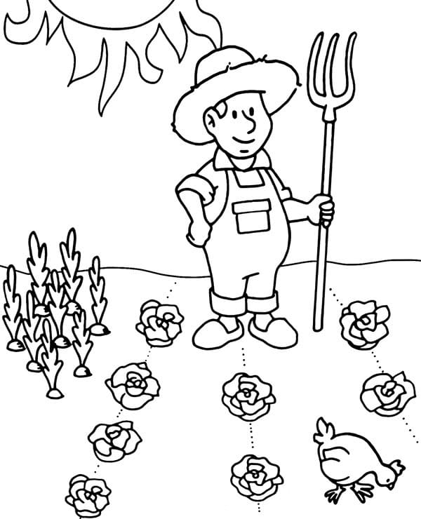 Top 35 Printable Farmer Coloring Pages
