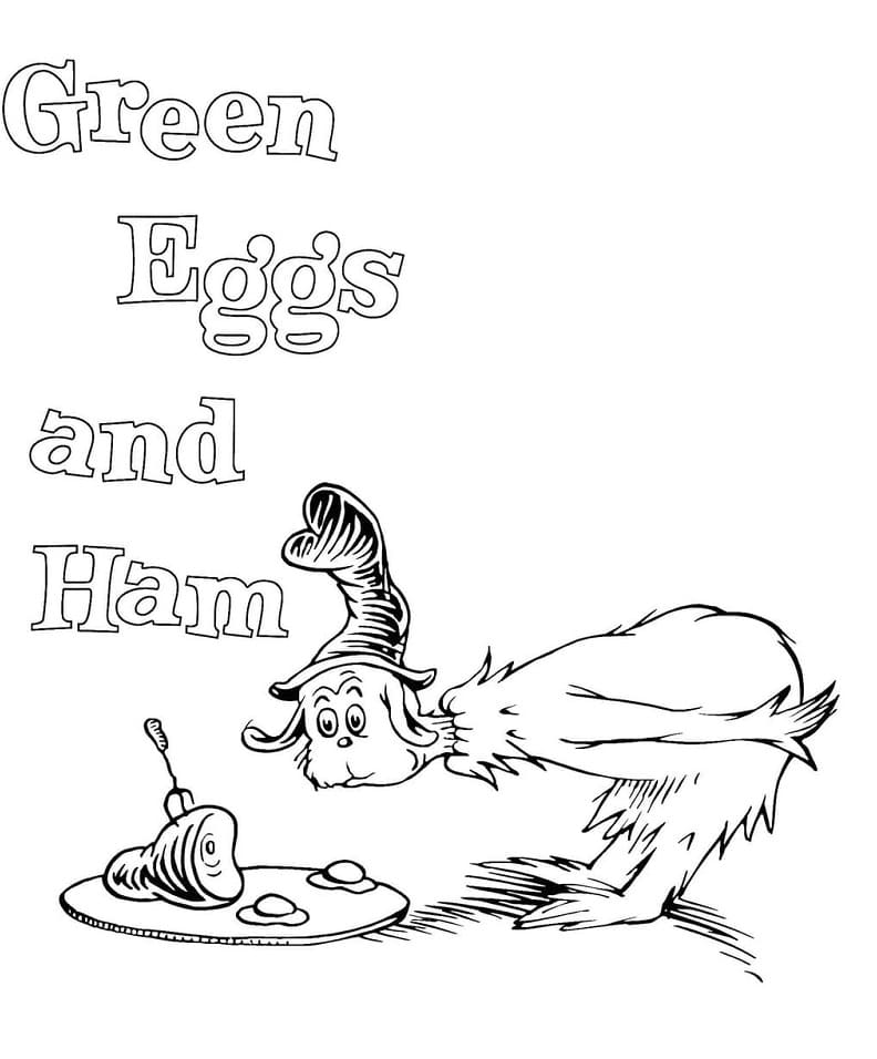 Top 20 Printable Green Eggs and Ham Coloring Pages