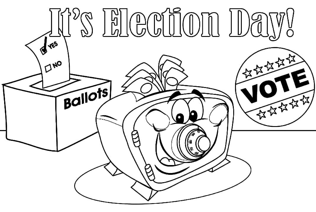 Top 30 Printable Election Day Coloring Pages
