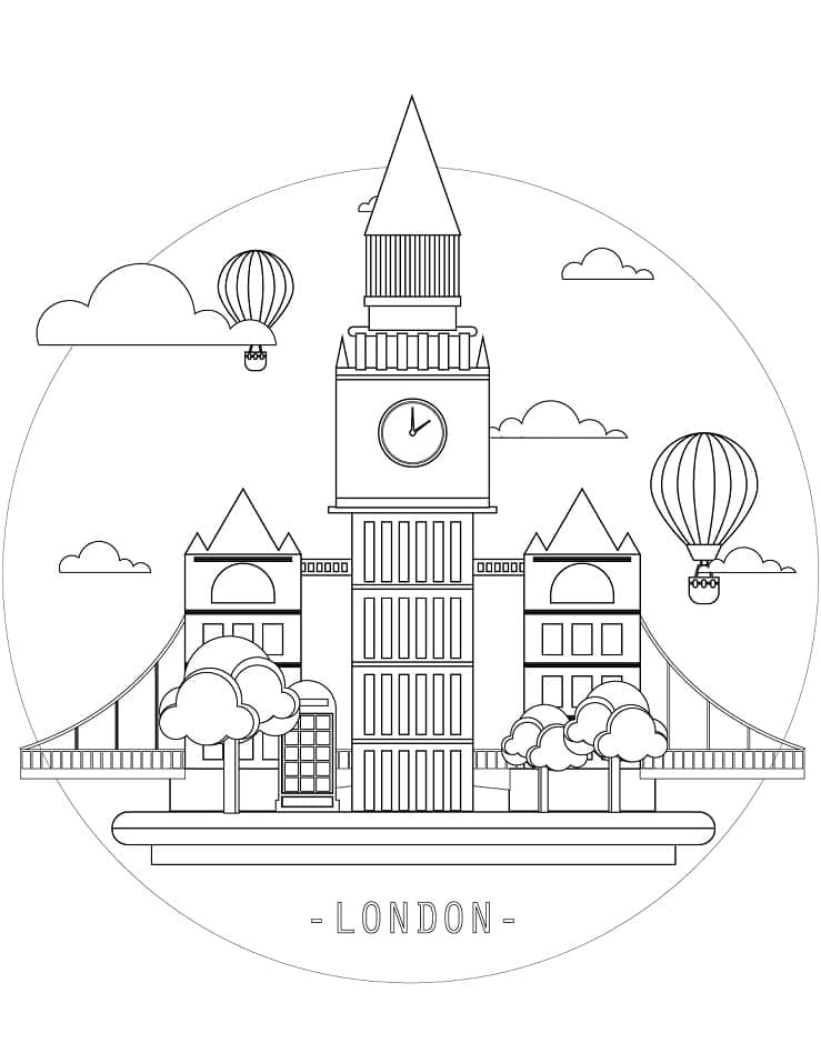 Top 40 Printable United Kingdom Coloring Pages