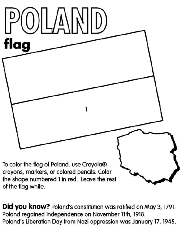 Top 27 Printable Poland Coloring Pages