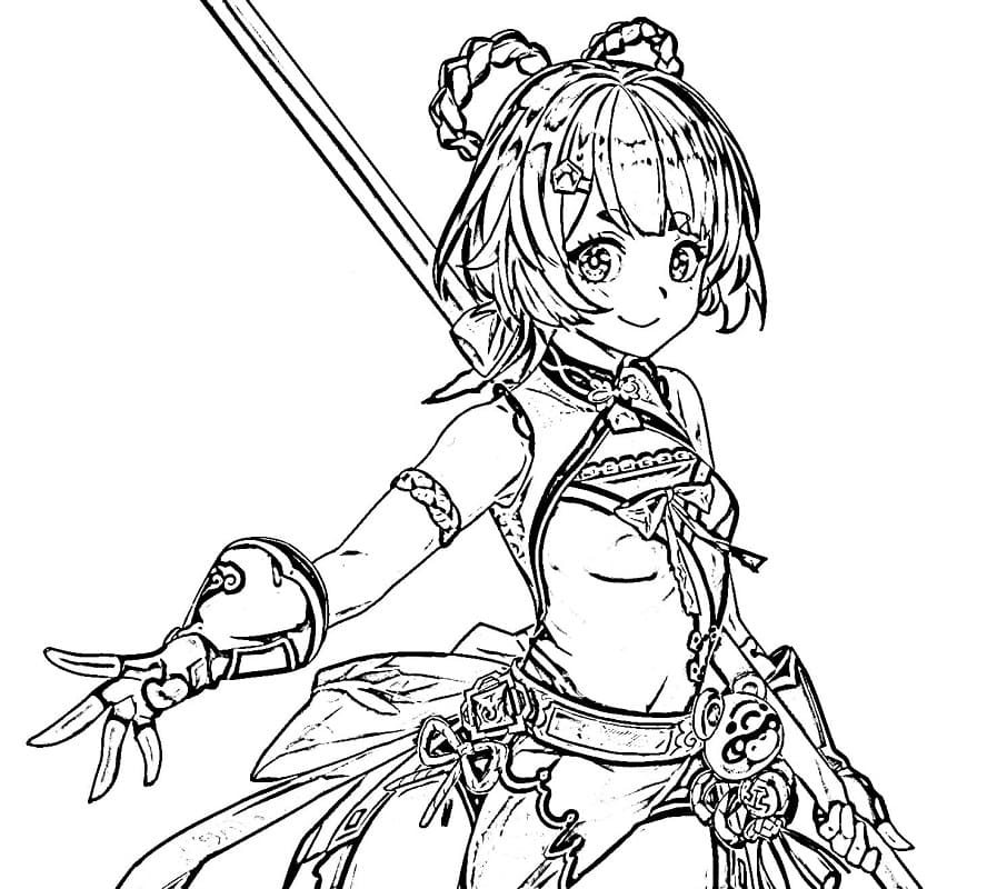 Top 30 Printable Genshin Impact Coloring Pages