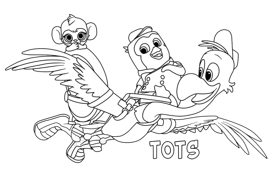 Top 24 Printable T.O.T.S Coloring Pages