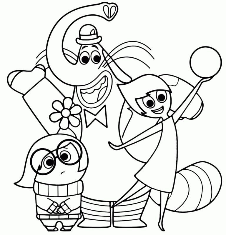 Top 55 Printable Inside Out Coloring Pages