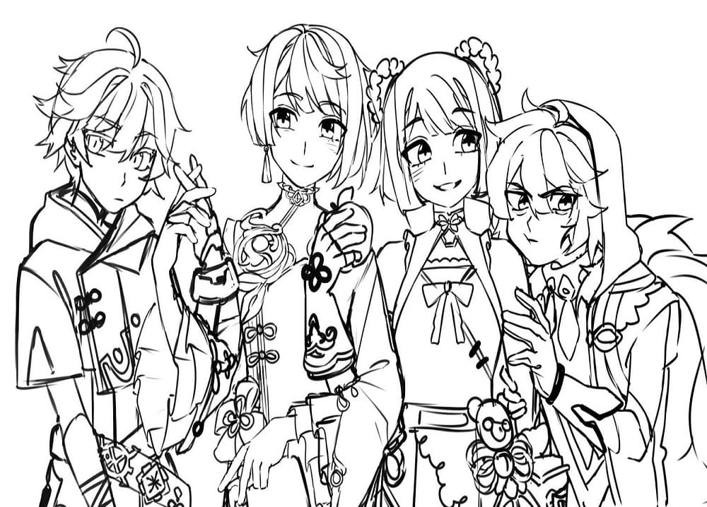 Top 32 Printable Genshin Impact Coloring Pages