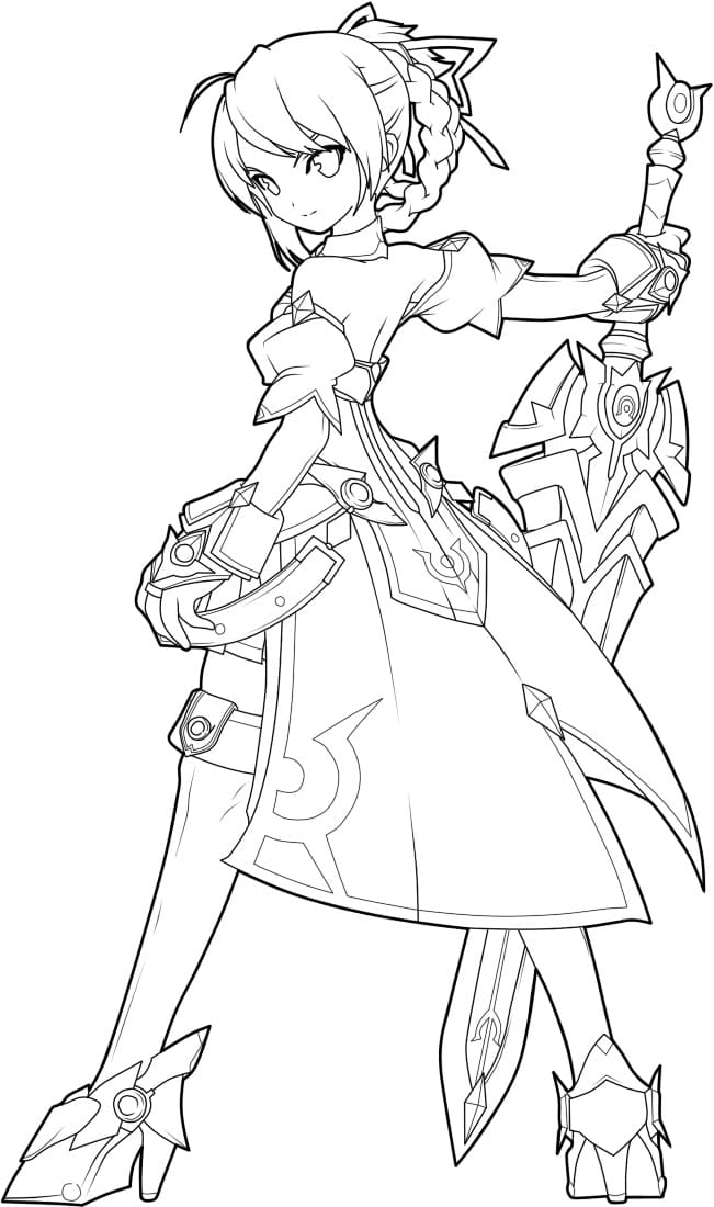 Top 16 Printable Elsword Coloring Pages