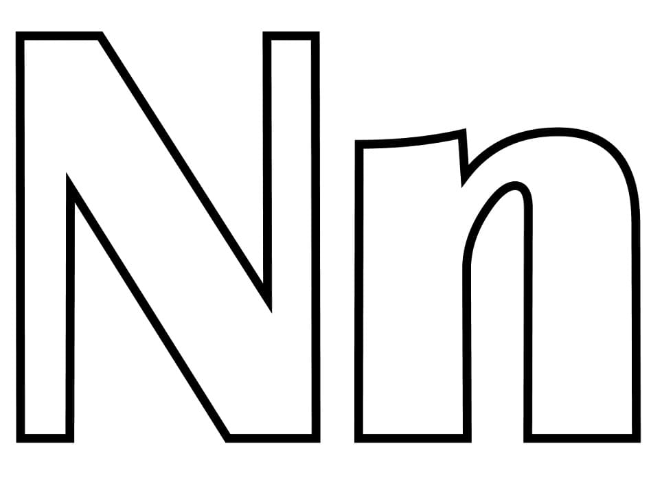 Top 12 Printable Letter N Coloring Pages