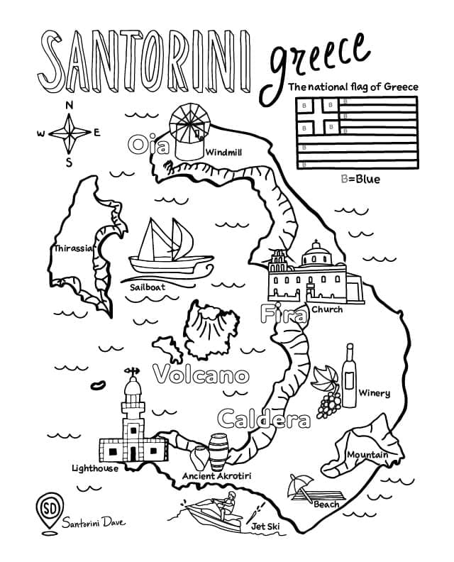 Top 40 Printable Greece Coloring Pages