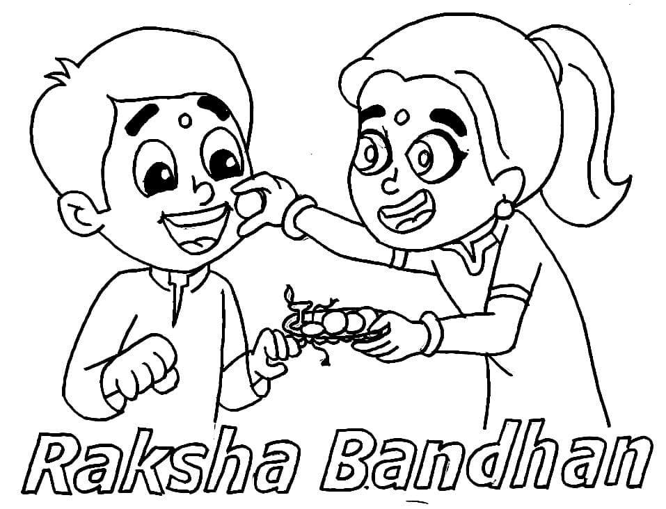 Top 20 Printable Raksha Bandhan Coloring Pages