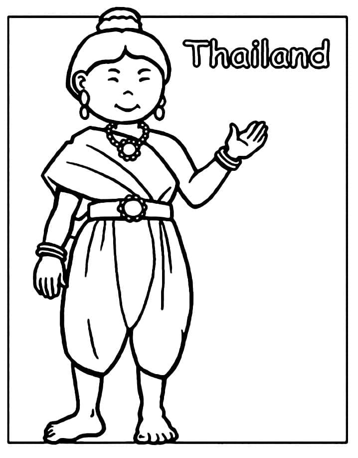 Top 20 Printable Thailand Coloring Pages