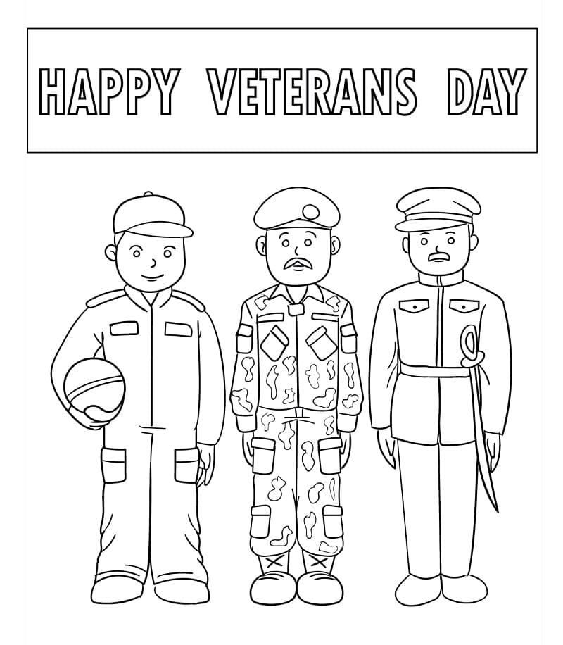 Top 32 Printable Veterans Day Coloring Pages