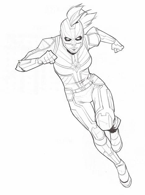 Top 20 Printable Captain Marvel Coloring Pages