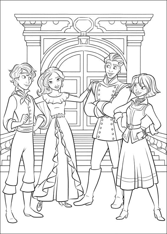 Top 28 Printable Elena of Avalor Coloring Pages