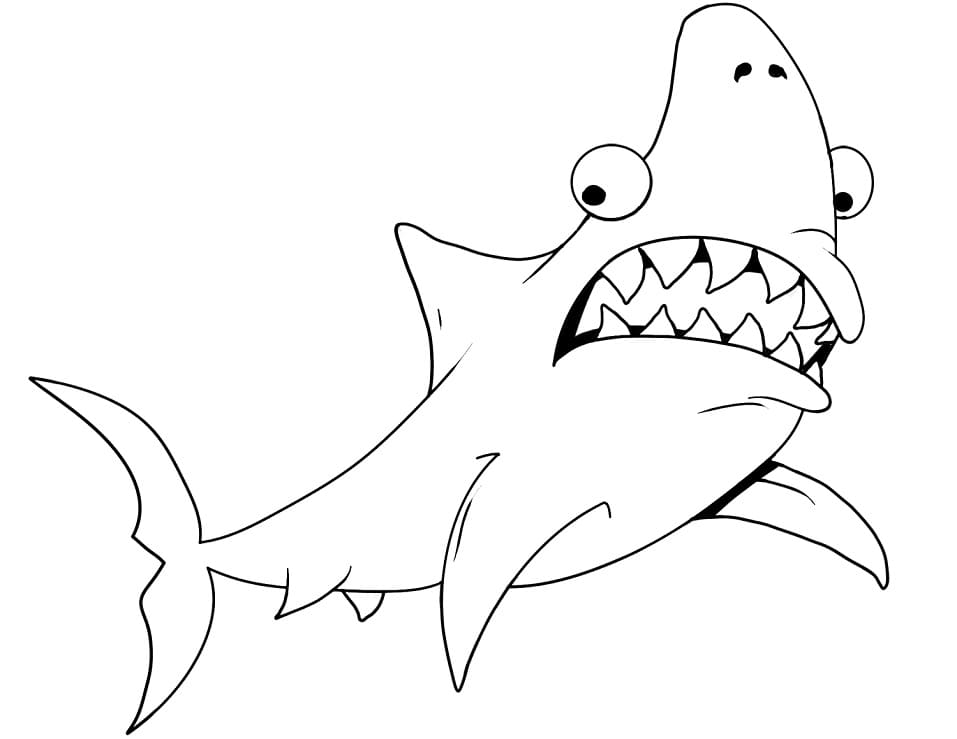 Top 38 Printable Shark Coloring Pages