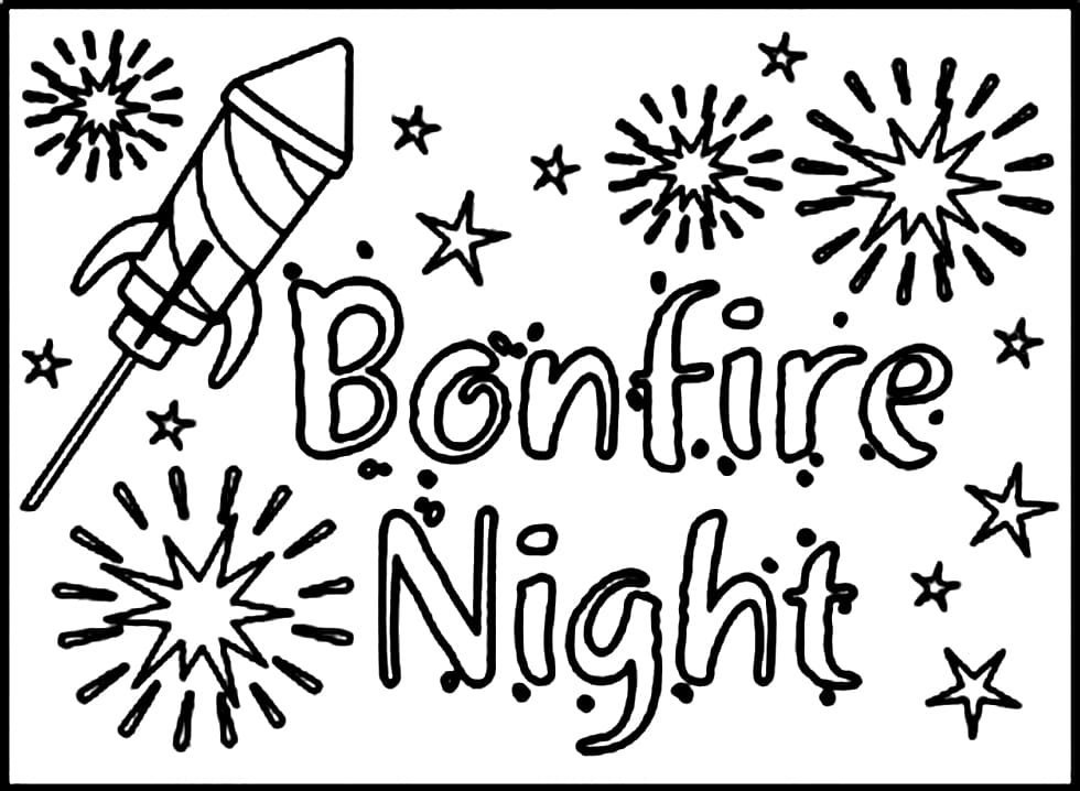 Top 20 Printable Guy Fawkes Night Coloring Pages