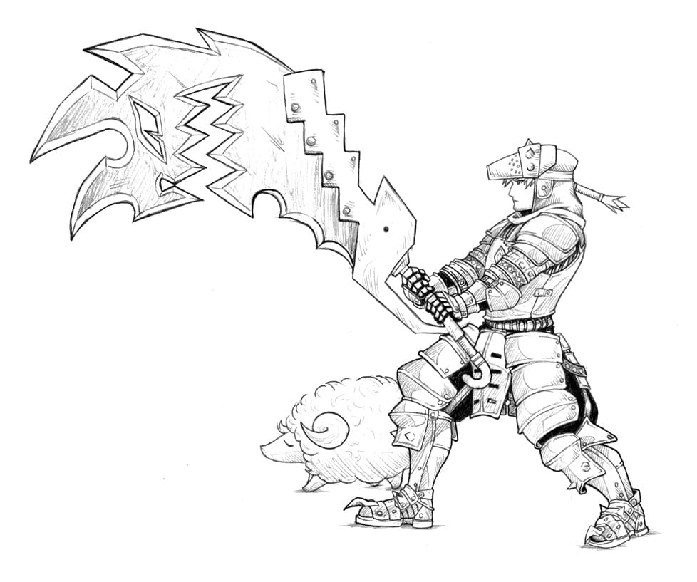 Top 20 Printable Monster Hunter Coloring Pages