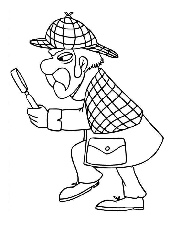 Top 24 Printable Detective Coloring Pages
