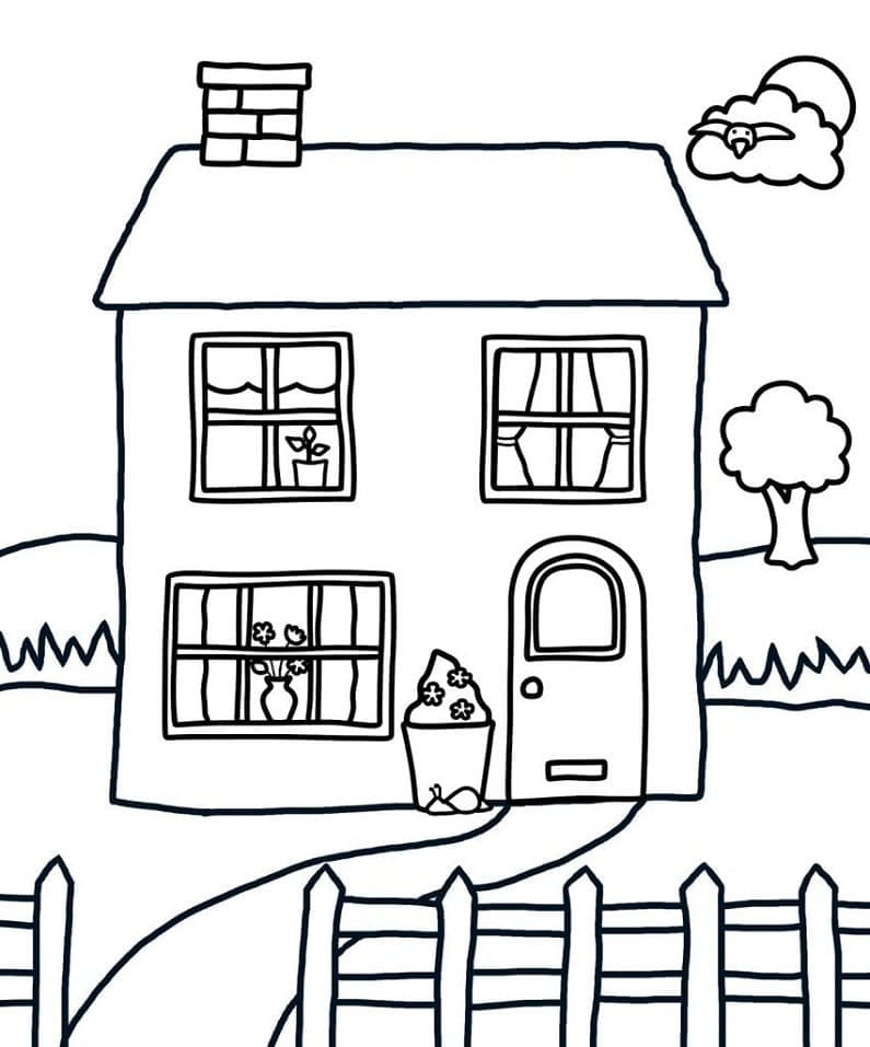 Top 40 Printable House Coloring Pages