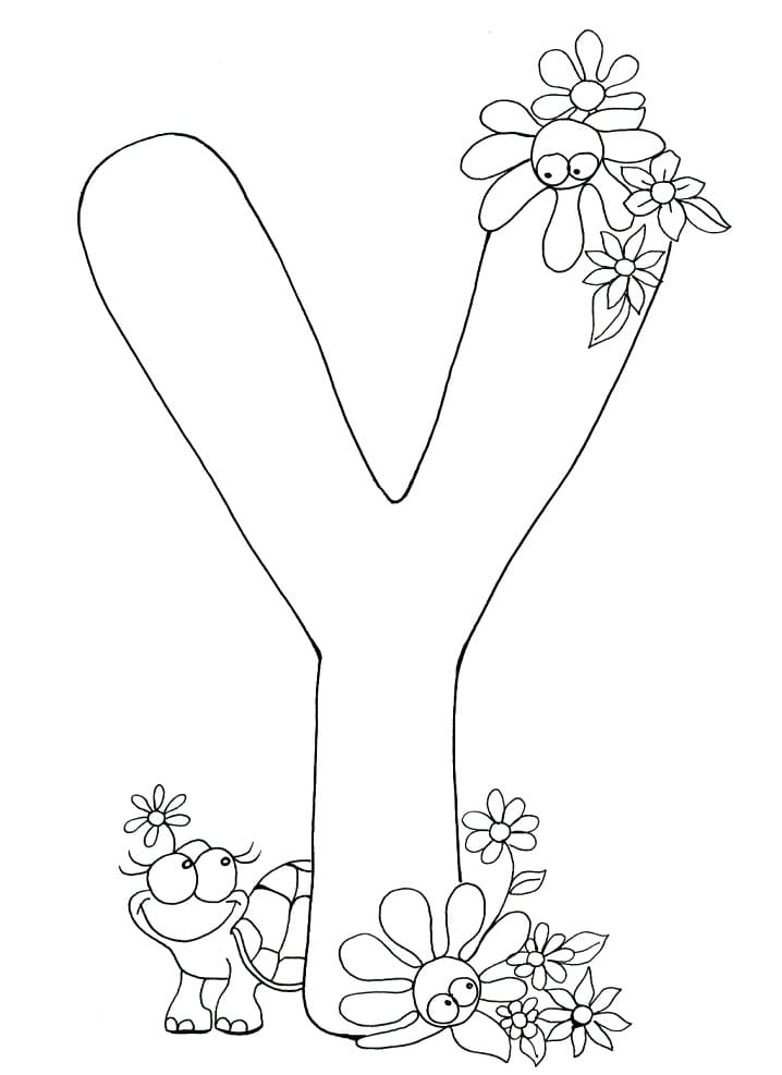 Top 12 Printable Letter Y Coloring Pages