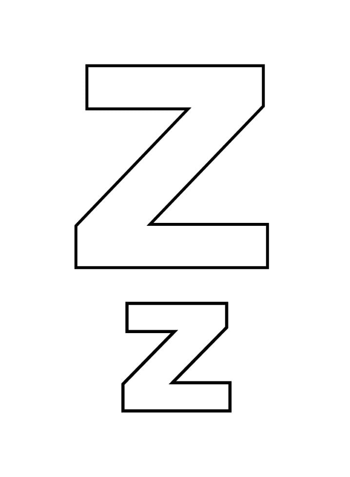 Top 16 Printable Letter Z Coloring Pages