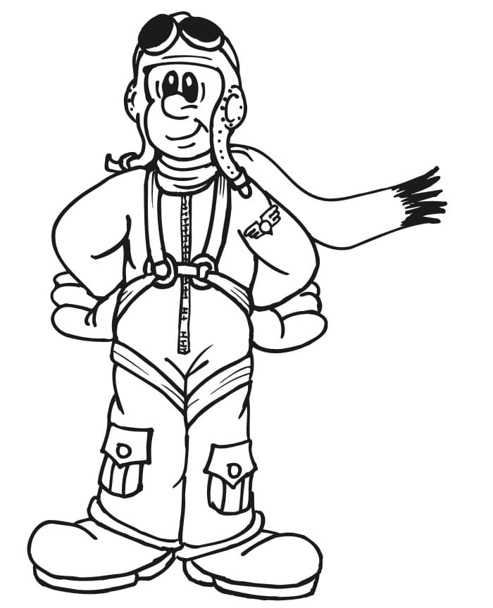 Top 24 Printable Pilot Coloring Pages