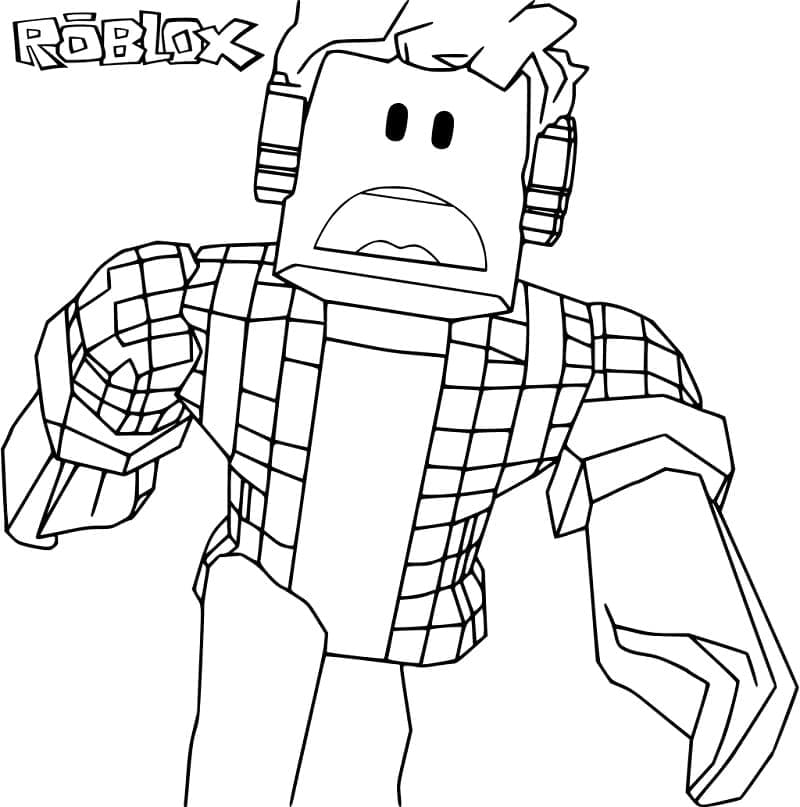 Top 30 Printable Roblox Coloring Pages