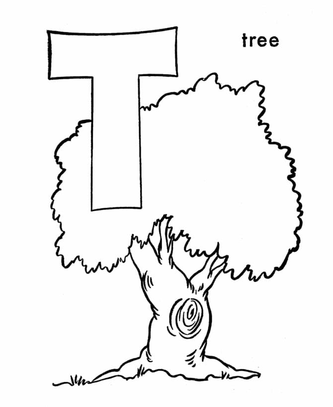 Top 16 Printable Letter T Coloring Pages